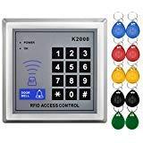 LIBO Standalone Access Control Tastatur RFID 125 kHz Karte Reader Türschloss mit 10 Nähe Schlüsselanhänger für Tür Sicherheit System K2000