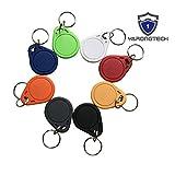 YARONGTECH 10 PCS Wasserdicht ABS 13.56MHz ISO14443A MIFARE Classic 1K NFC RFID Token, RFID Schlüsselanhänger, RFID-Tag