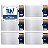 RFID Schutzhüllen (6 Stück) Kreditkarten NFC Schutz EC Karten Hülle Blocker Schutzhülle abgeschirmte Kreditkartenhülle Bankdaten Blocking Datenschutz