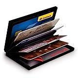 MyGadget Karten Etui Aluminium Geldbörse - RFID & NFC Schutz für 6 EC-Karten/Kreditkarten - Slim Wallet Card Holder für Damen, Herren in Silber