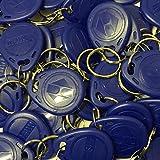 Generic EM4100 EM4102 125 kHz RFID Proximity ID-Tag-Token-Schlüsselanhänger Schlüsselanhänger nur lesen, 100 Stück blau