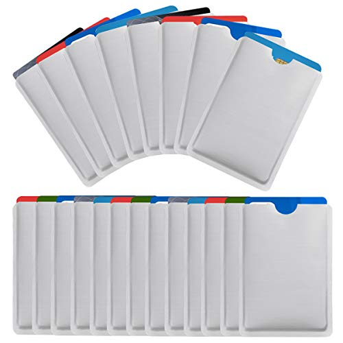 NATUCE 25 Stück Kreditkartenhülle RFID...