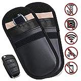 MONOJOY 2 Packung Keyless Go Schutz Autoschlüssel Faraday Tasche Auto Signal Keyless Schlüsseletui Funkschlüssel Abschirmung, RFID Key Safe Schlüssel Tasche
