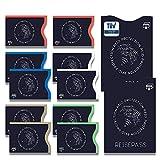 TÜV geprüfte RFID & NFC Schutzhülle, Blocker Kartenhüllen Schutz für Kreditkarten, EC Karten, Personalausweis, Kartenschutzhülle, Kreditkartenhülle RFID & NFC Schutzhüllen (12er Set)