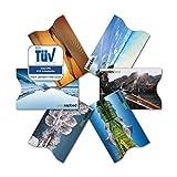 TÜV geprüfte RFID & NFC Blocker Kreditkarten-Schutzhülle (6 Stück) | stabile EC Kartenhülle gegen Datenklau und unerlaubtes auslesen | super dünn & reißfest für 100% Datenschutz - Motive (Landschaft)