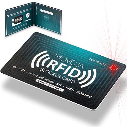 RFID Blocker Karte mit LED Indikator...