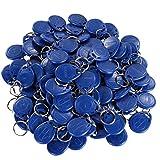 UHPPOTE Nähe 125KHz RFID EM-ID Karte Etikett Token Schlüsselanhänger Nur Lesen Farbe Blau (100er Pack)